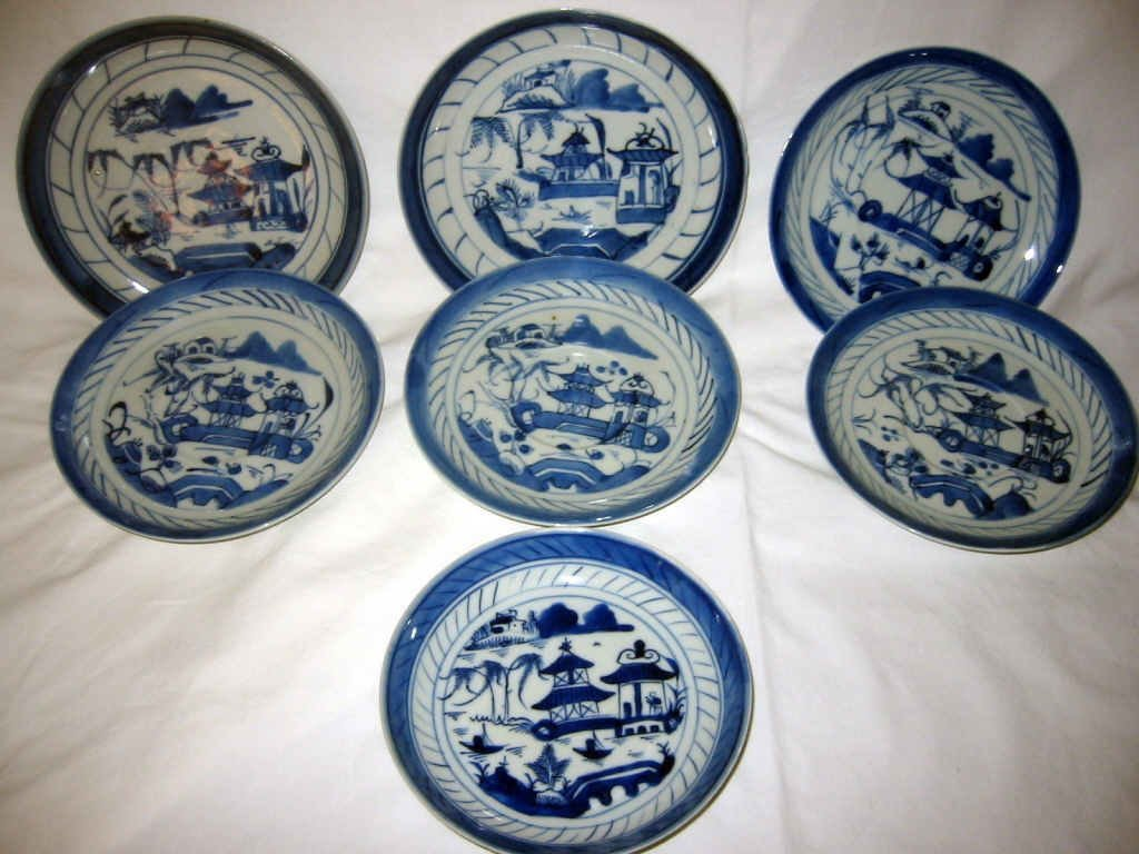 Miscellaneous Lot of 7 Canton Saucers