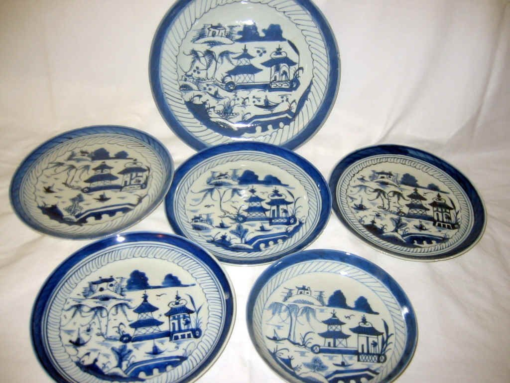 Miscellaneous Lot of Canton Plates