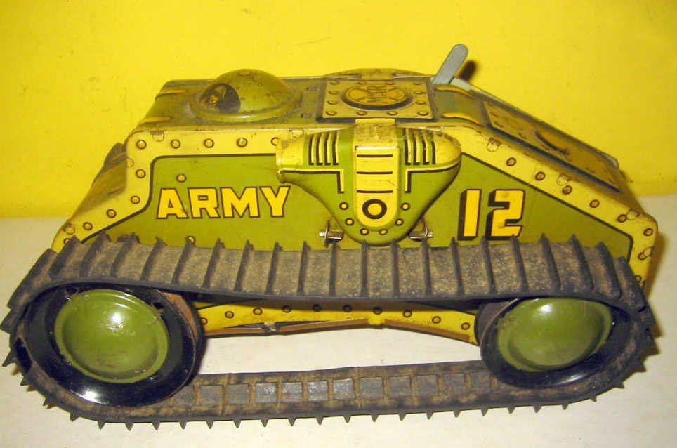 1940s Litho Toy Tank by Marx