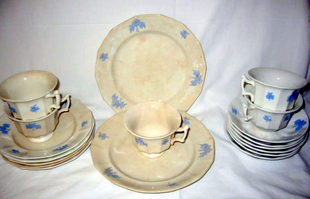 Miscellaneous Lot of Old Iron Stone China
