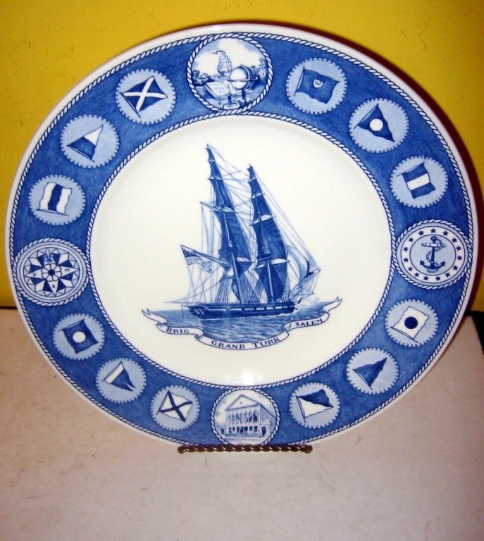Lot of 4 Peabody Museum Ship Plates by Wedgewood
