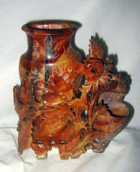 Soap Stone Carved Vase
