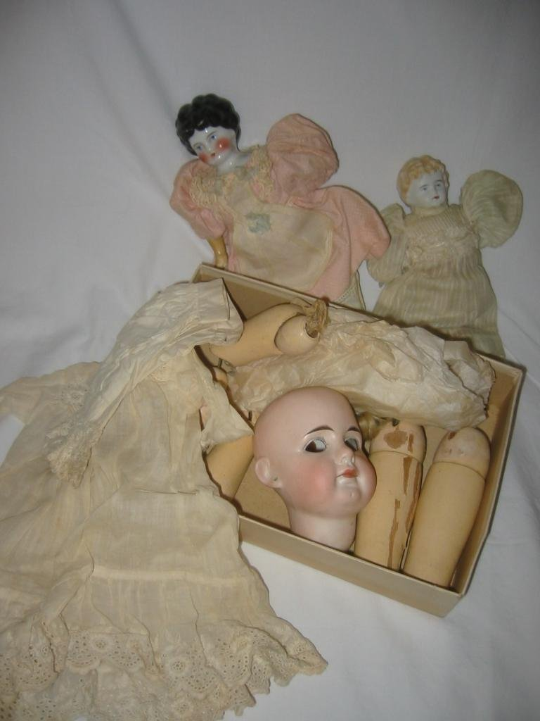 Collection of 19c Doll Parts
