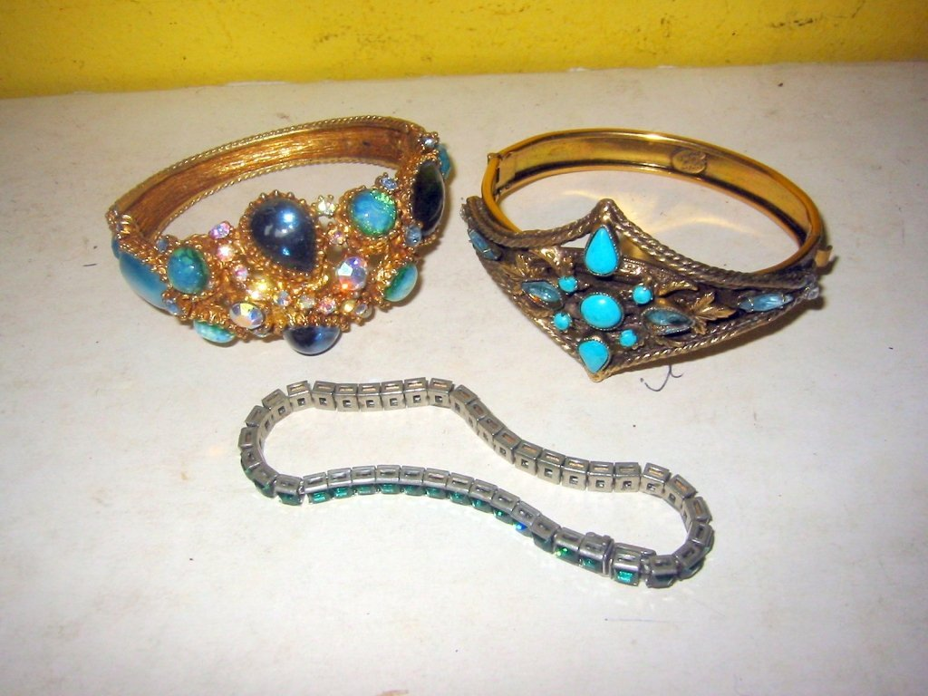 Three Costume Jewelry Bracelets