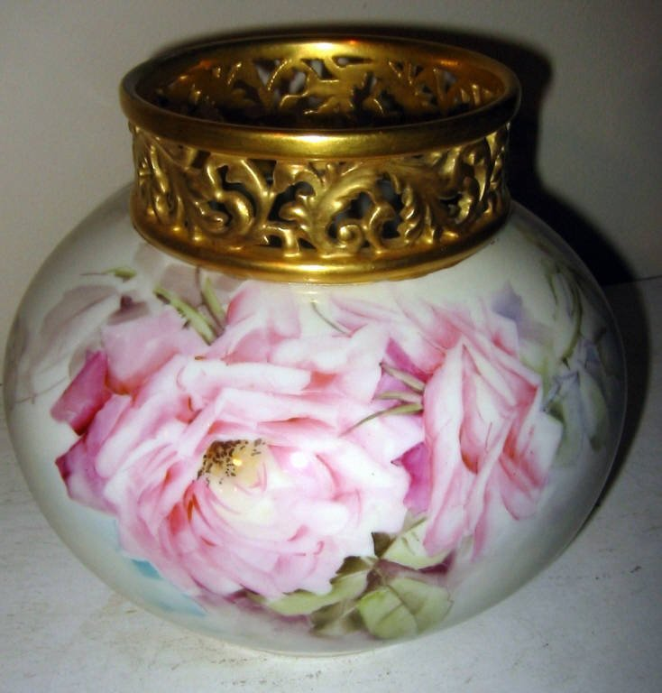Limoges Hand Painted Vase