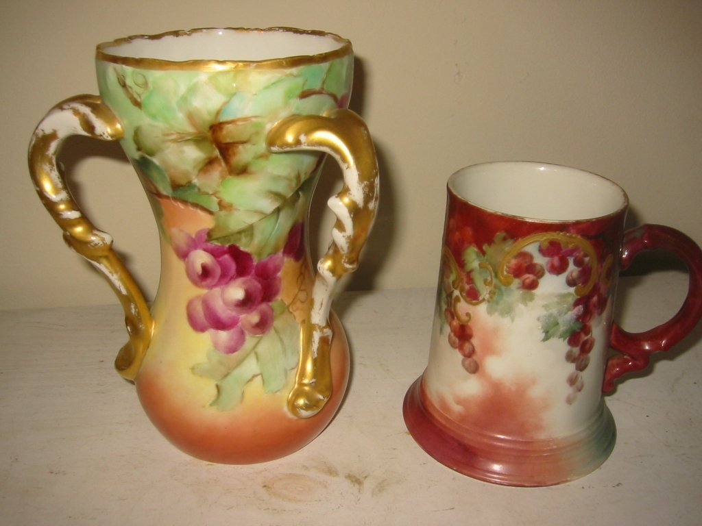 Two Pieces of Hand Painted Limoges