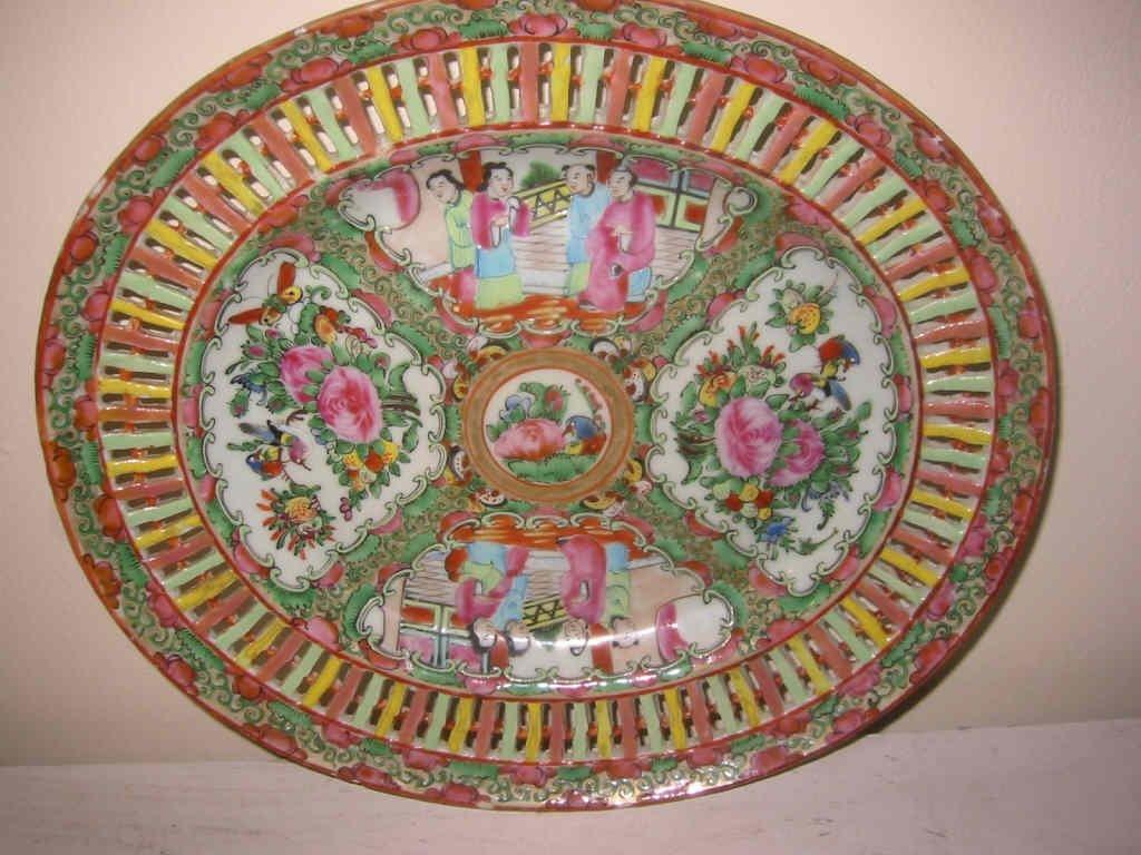 Rose Medallion Reticulated Platter