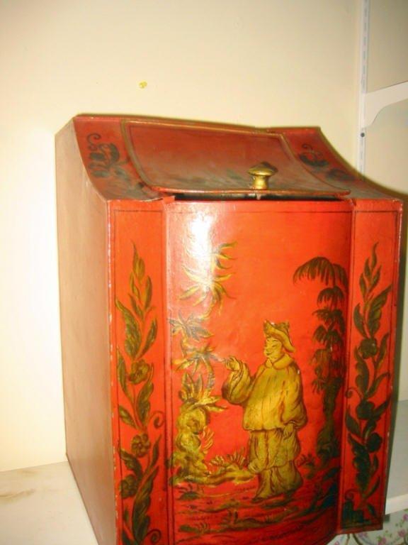 Chinese Painted Tea Bin