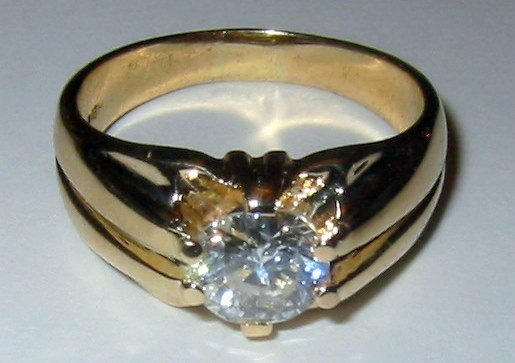 Men's Diamond Ring in 14k Gold