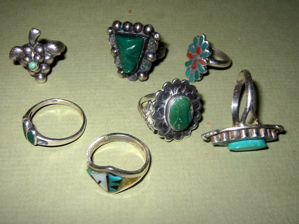 Lot of Seven Sterling Rings