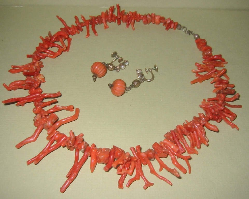 Lot of Red Coral Jewelry
