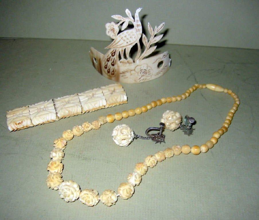 Lot of  Bone Jewelry