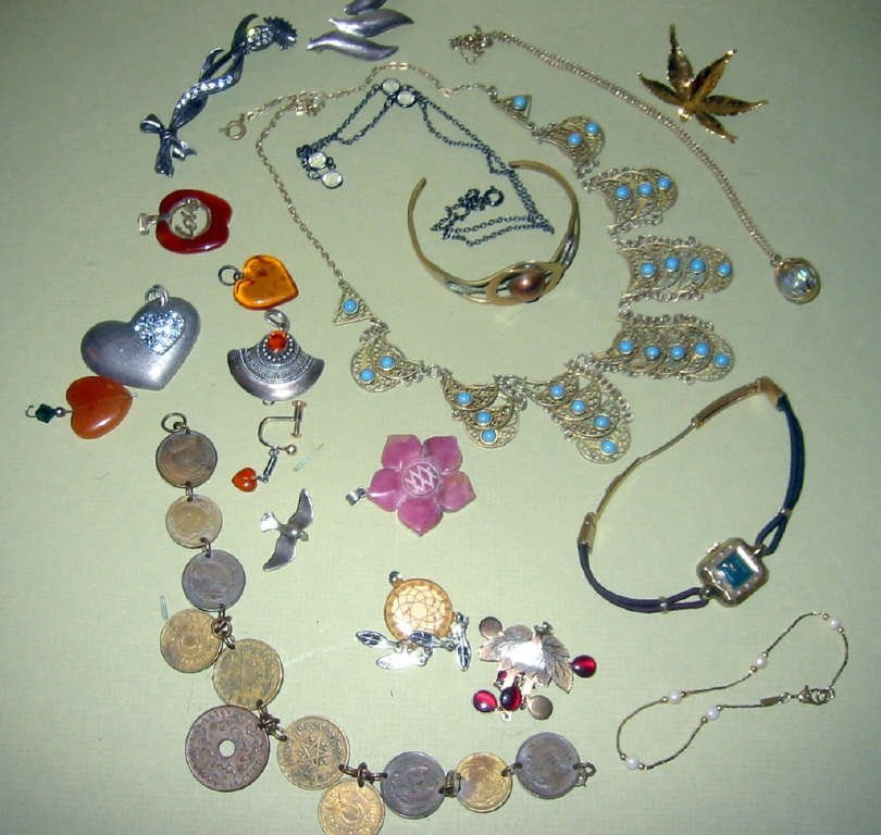Miscellaneous Bag Lot of Costume Jewelry