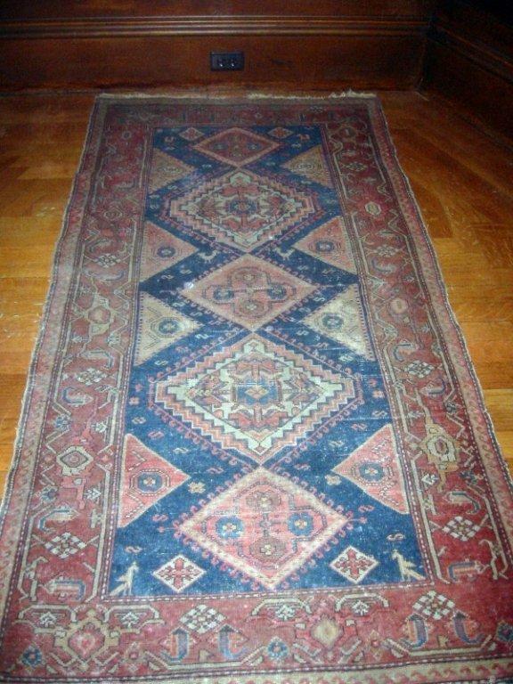Antique/Old Hamadan Oriental Scatter Rug