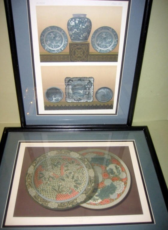 Two French Lithos of Japanese Porcelain