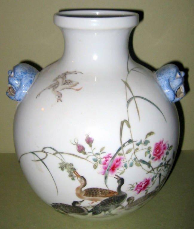Chinese 19c Famille Rose Vase