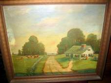 Painting on Canvas by Willam Curry