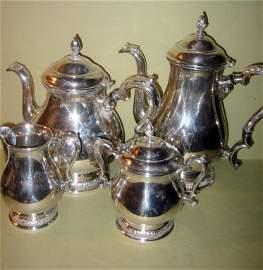 Sterling Silver Four Piece Tea Service