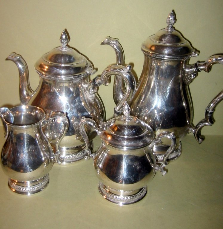 Sterling Silver Four Piece Tea Service