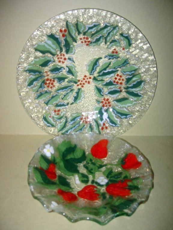 Two Pieces of Sydenstricker Glass