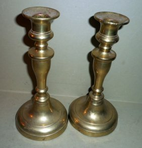 Pair Of American Push-up Candlesticks
