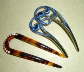 Two Fancy Hair Combs