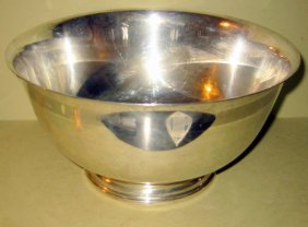 Large Sterling Punch Bowl