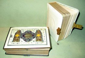 Two Judaica Bibles Ca. 1900