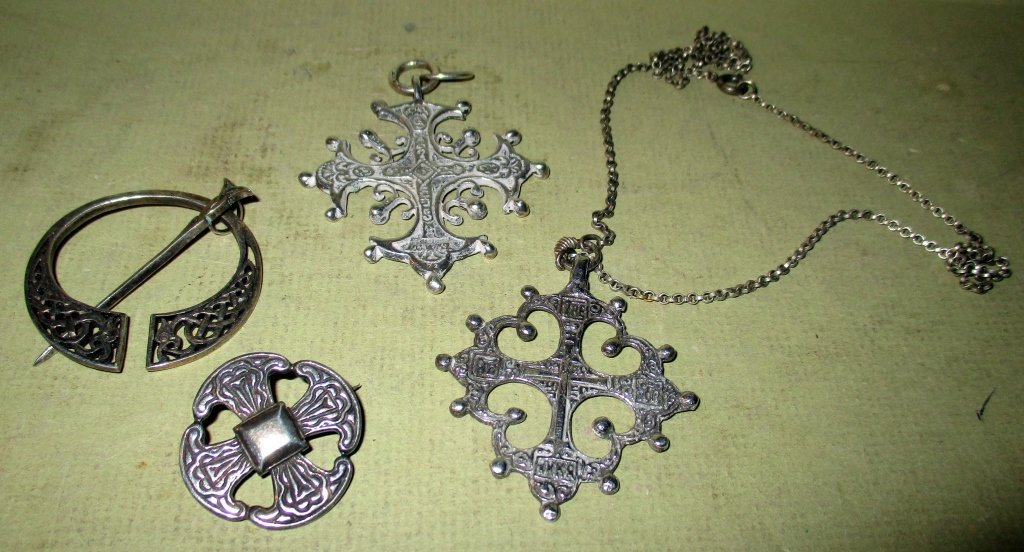Four Piece Lot of Silver Celtic Jewelry