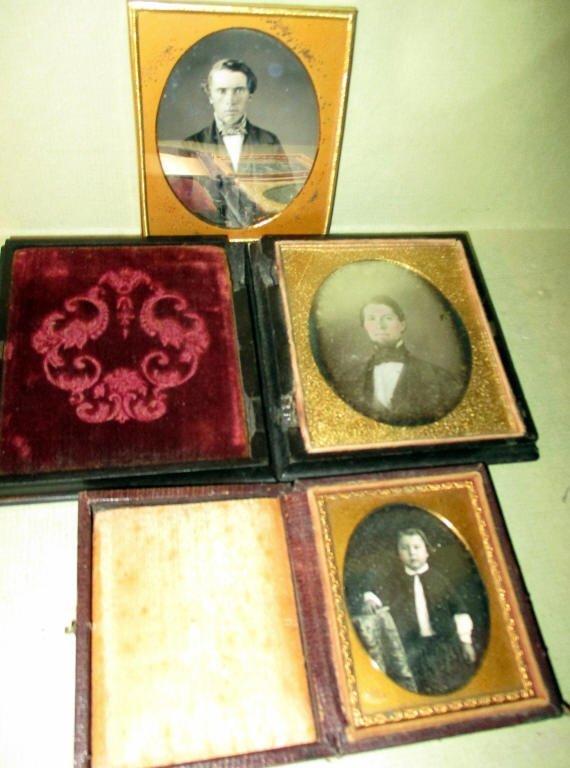 Three 19th Century Daguerreotype