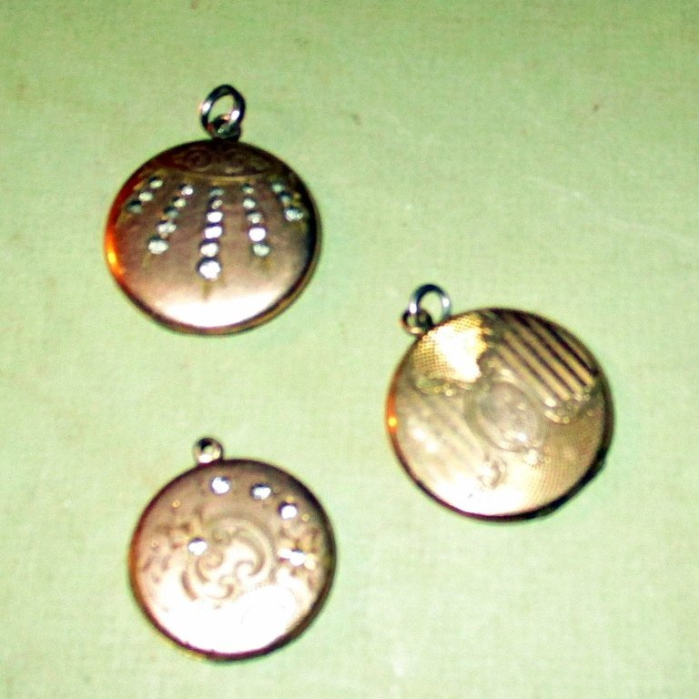 Three Victorian Gold Filled Pendants