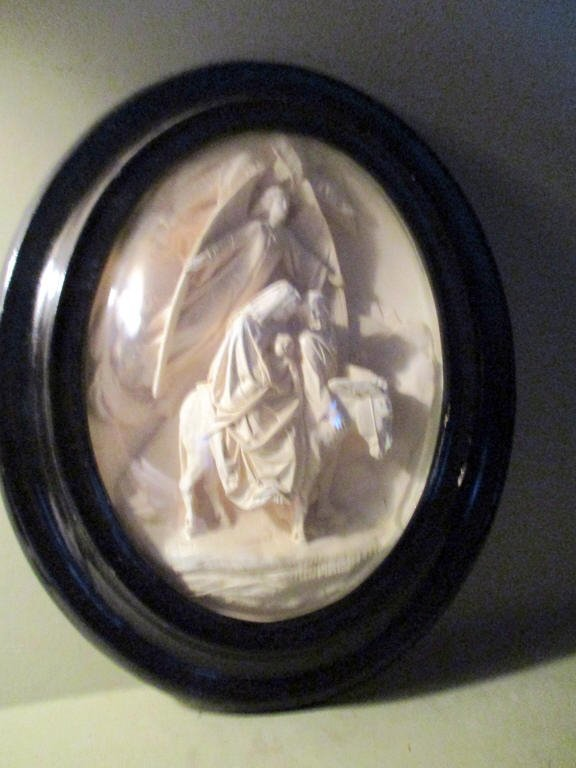 Plaster Relief of Holy Family Flight from Egypt