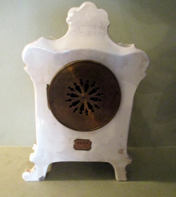 Hand Painted French Porcelain Clock - 2