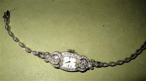 Lady's 14k Gold and Diamond Wrist Watch