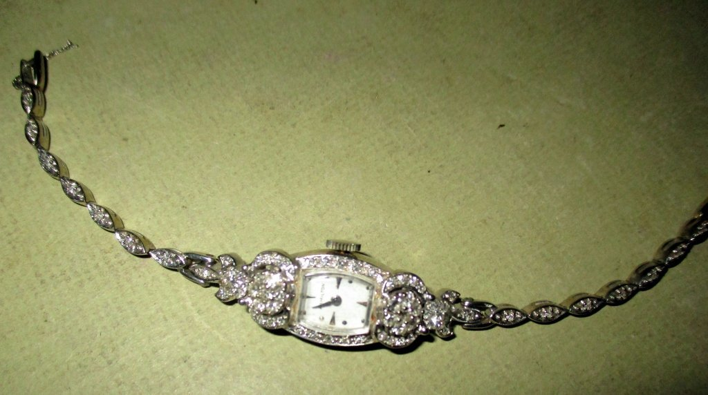 Lady's 14k Gold and Diamond Wrist Watch