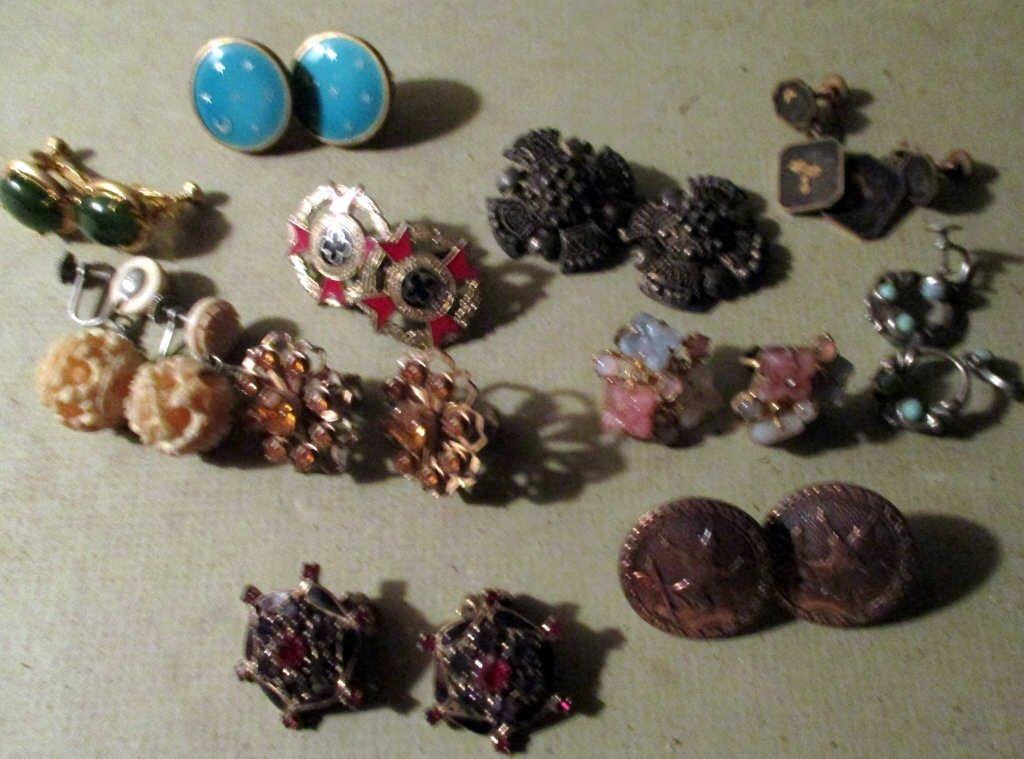Lot of 11 Pairs of Vintage Earrings