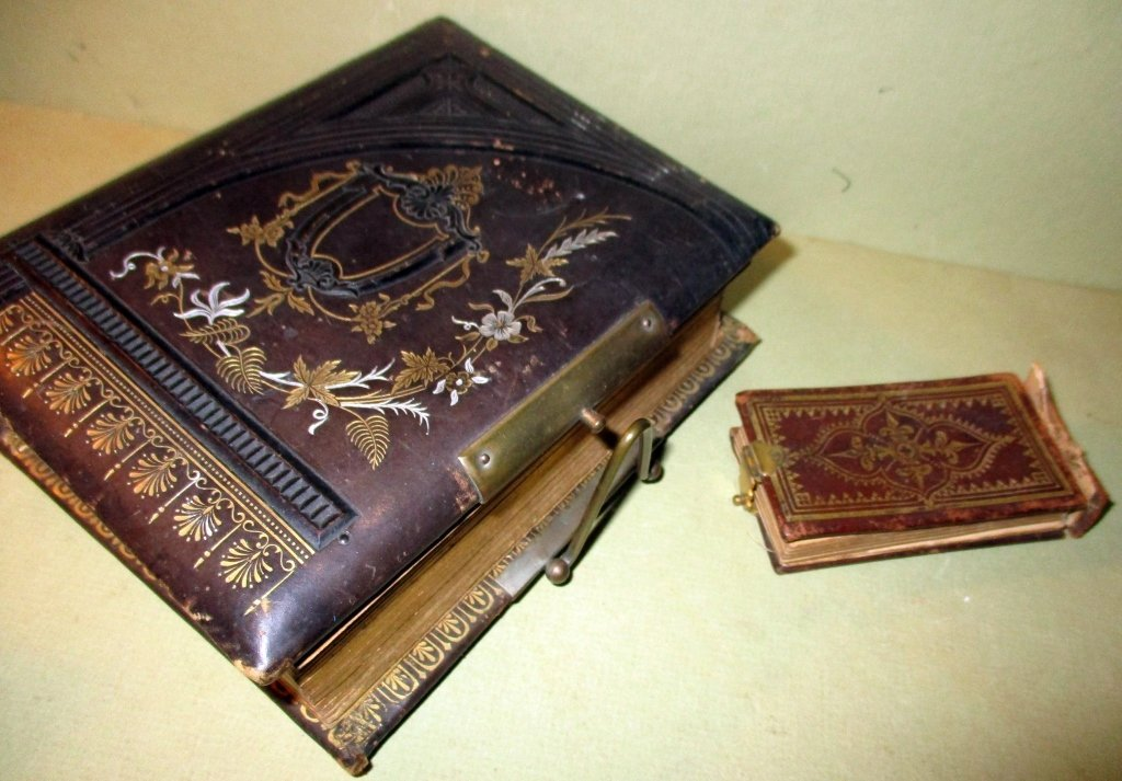 Two Leather Bound 19th Century Photo Albums