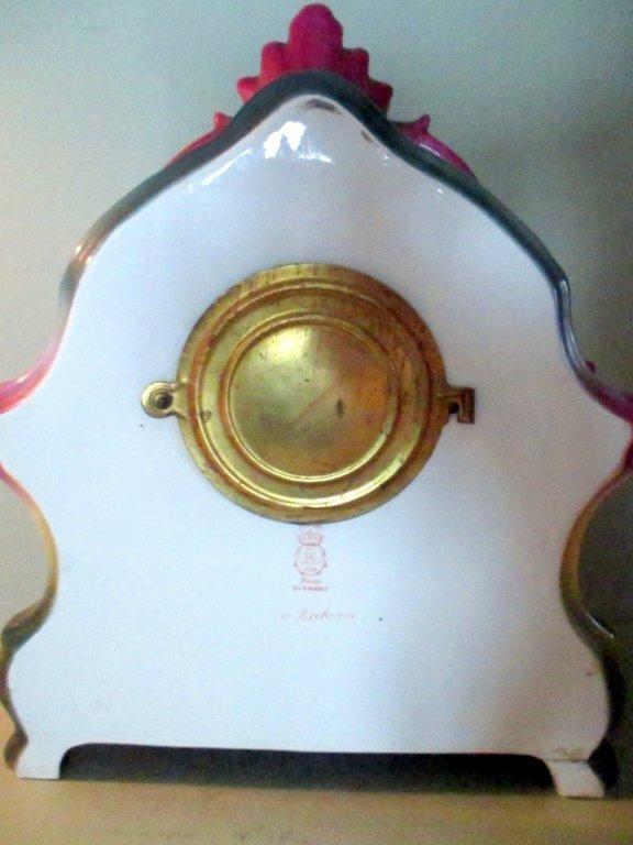 Ansonia Porcelain Mantle Clock - 2