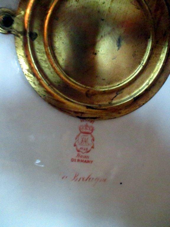 Ansonia Porcelain Mantle Clock - 3