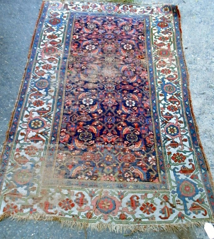 Antique Hamadan Oriental Carpet