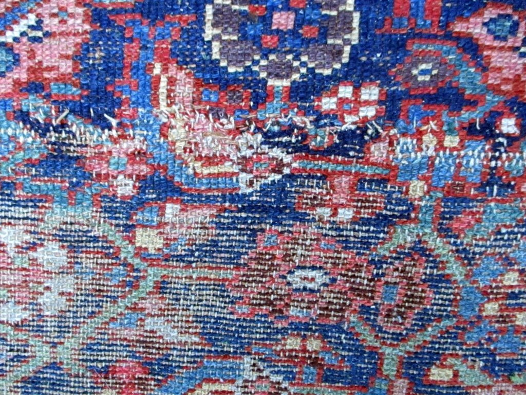Antique Hamadan Oriental Carpet - 2
