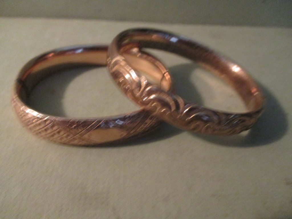 Two Gold Filled Bangle Bracelets