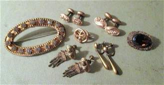 Lot of Victorian Gold Filled Jewelry