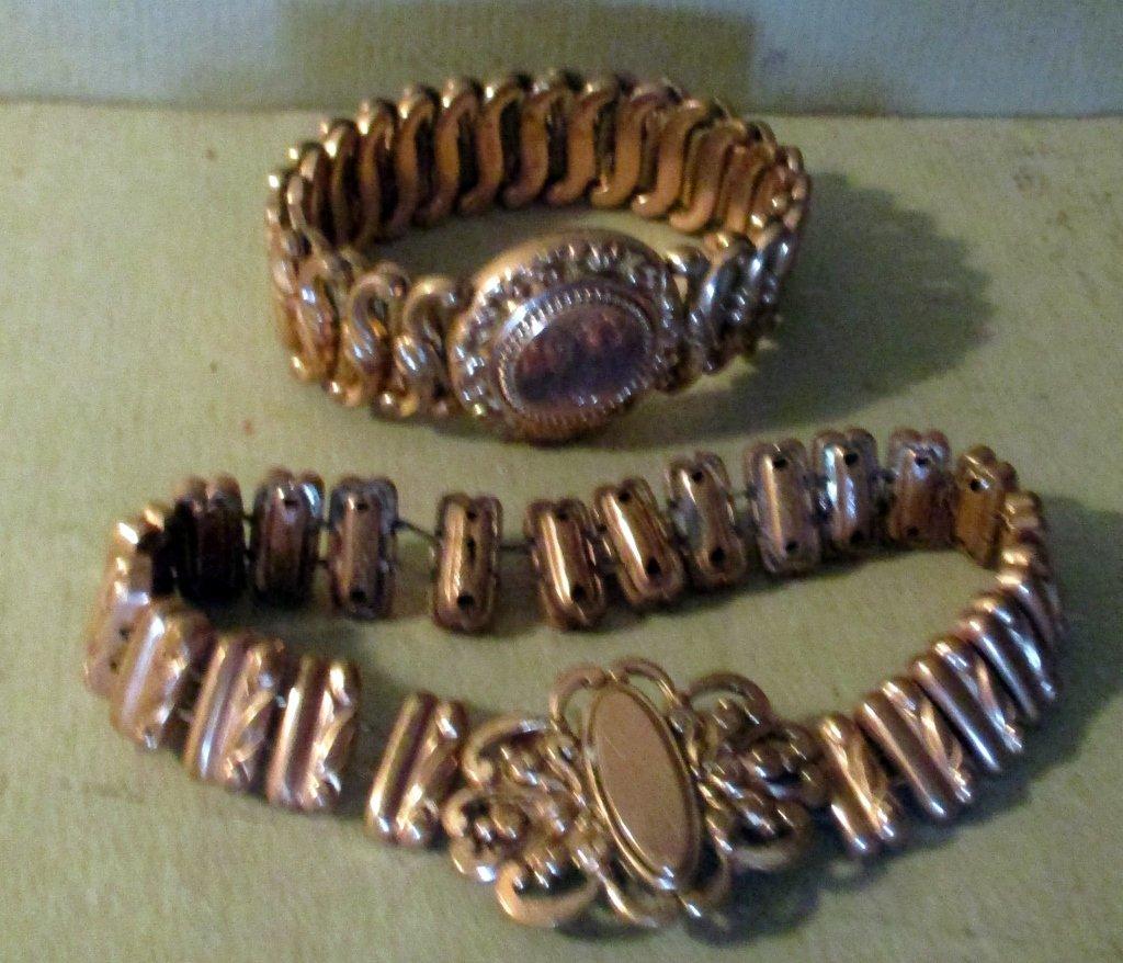 Two Gold Filled Victorian Bracelets