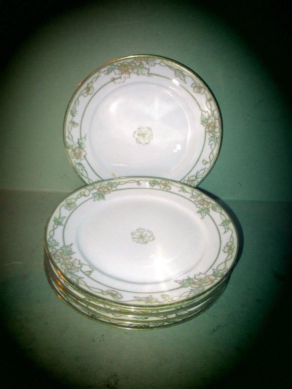 Set of 6 Hand Painted Nippon Dessert Plates