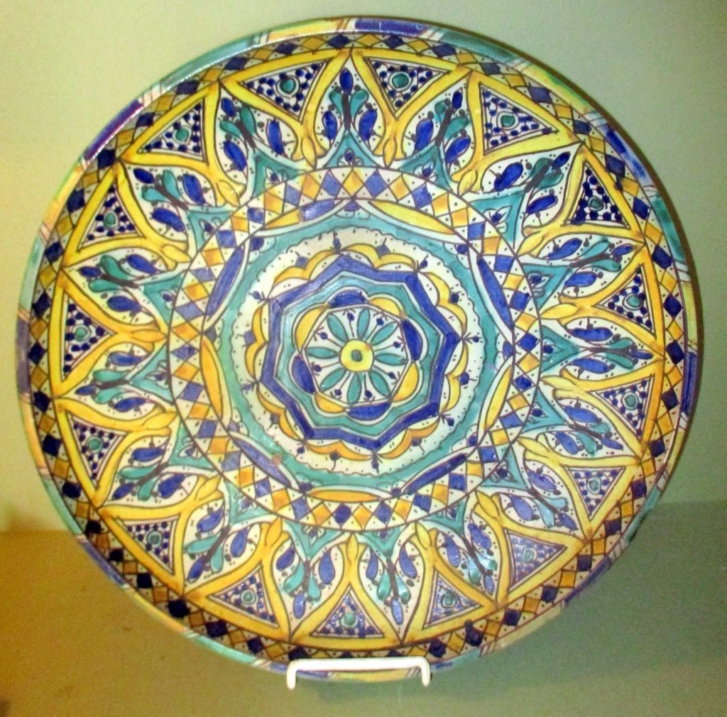 Large Hand Decorated Charger