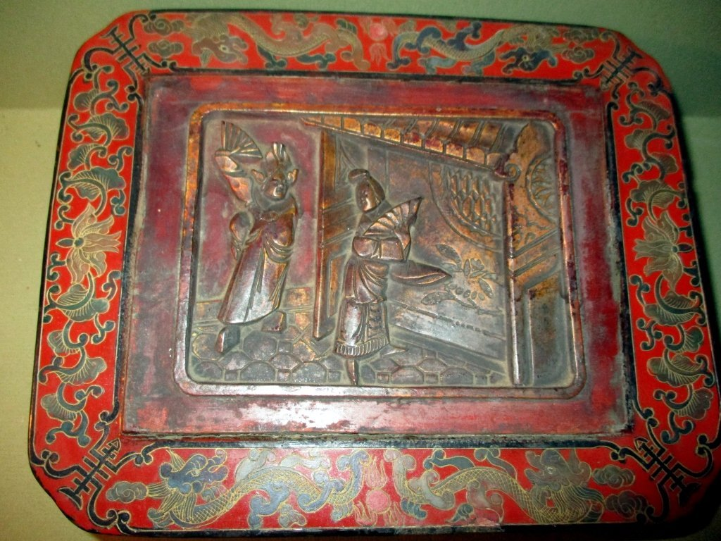 Chinese Red Lacquered Papier Mache Box - 2