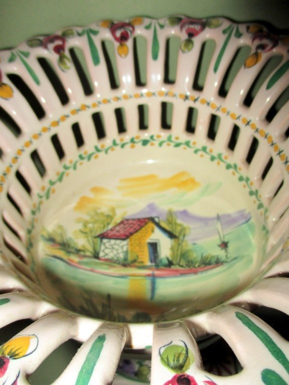 Faience Reticulated Compote - 2
