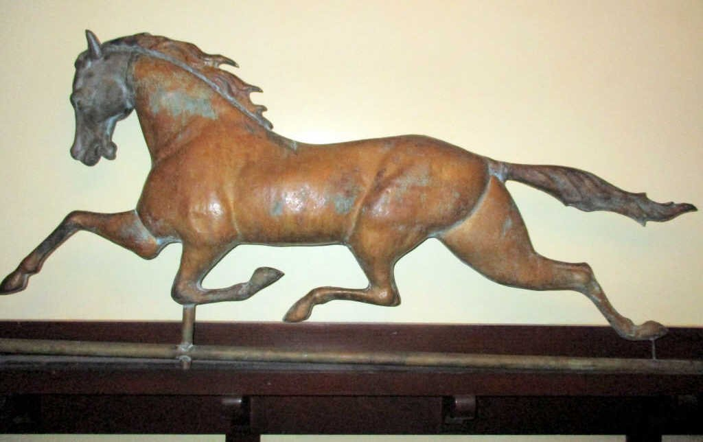 JW Fiske Running Horse Weather Vane
