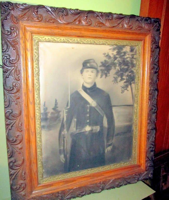 Charcoal Portrait of Civil War Soldier
